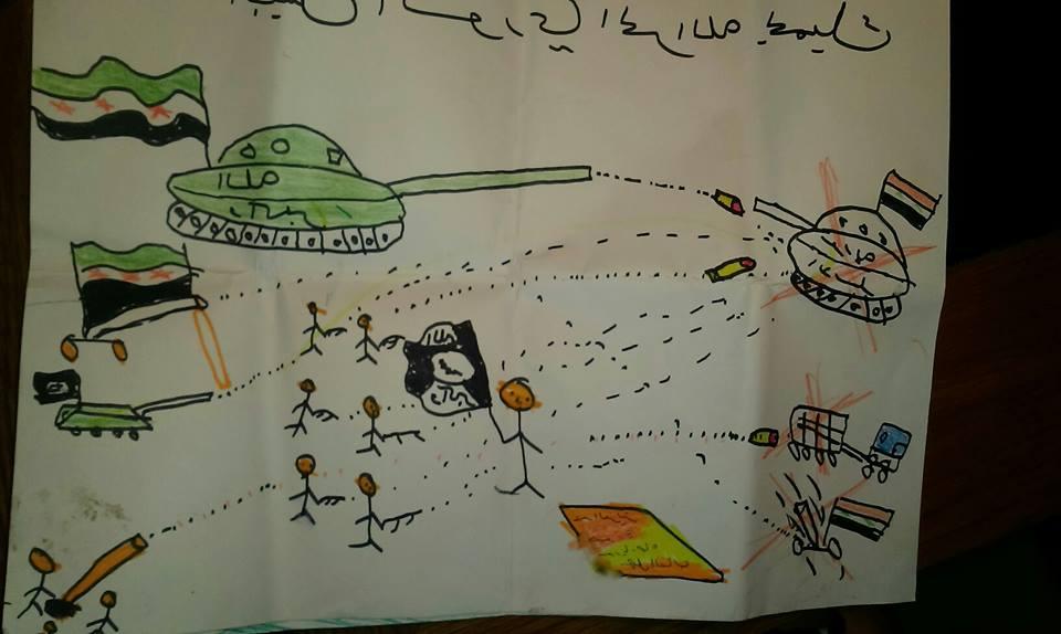 8_Kresba syrského dítěte z detenčního zařízení v Bělé pod Bezdězem